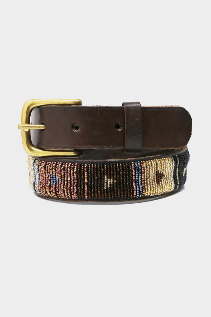 Block Diamond Leather Belt | Autumn