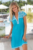 Brandy Dress by Sulu | Turquoise/White