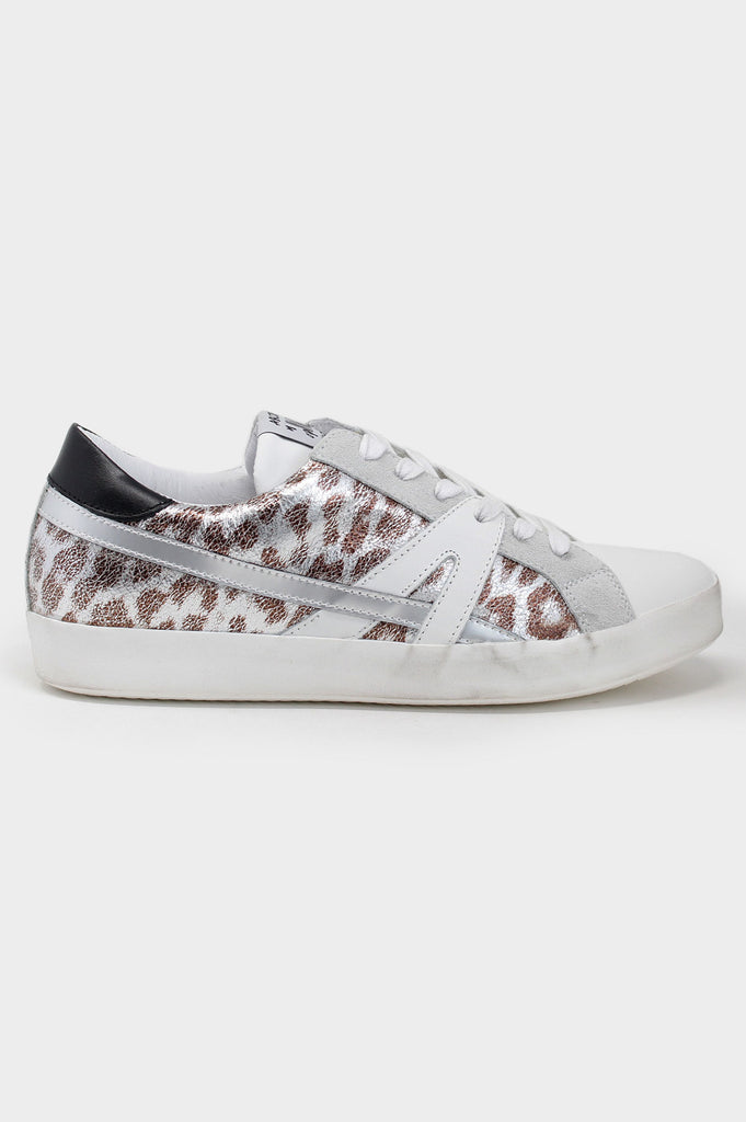 Leather Low-Top Trainers | Leopard