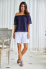 Lila Off The Shoulder Top | Navy