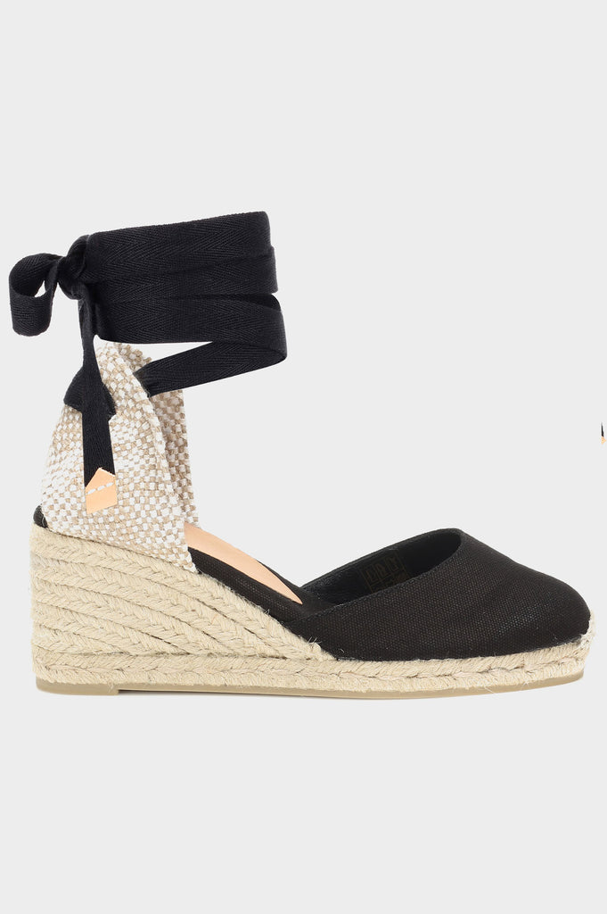 Carina Canvas Wedge Espadrilles | Black