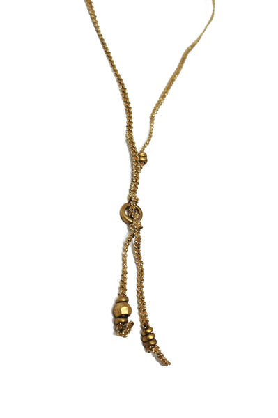 Brittany Ribbon Necklace by Chan Luu | Gold