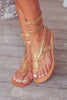 Cobra Wrap Sandals | Gold - Aspiga