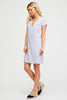 Amber Dress | White/Blue - Aspiga