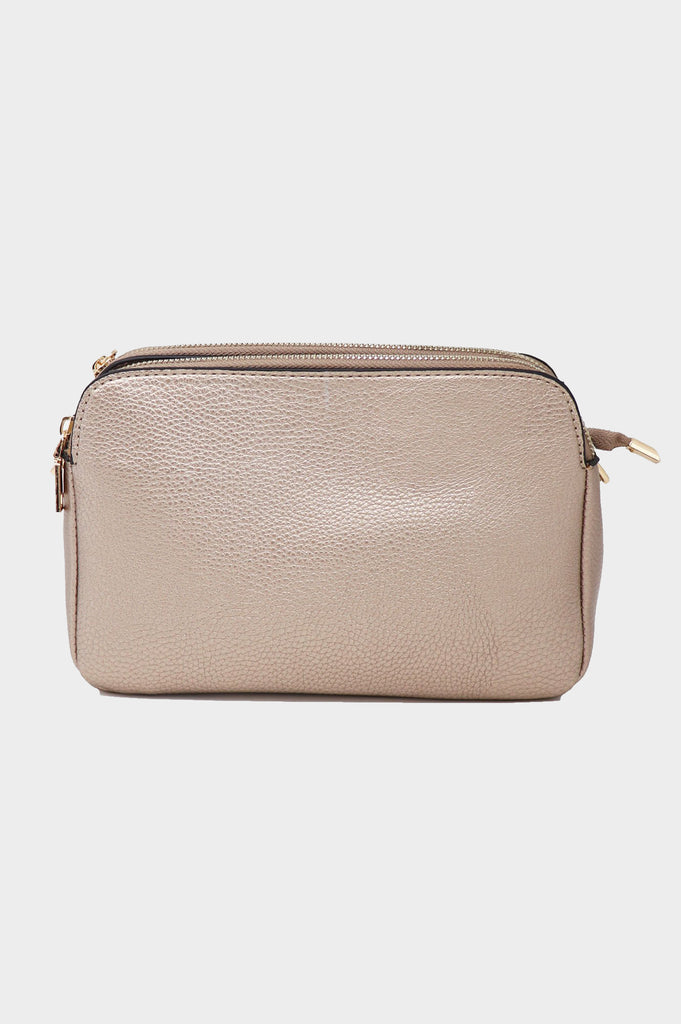 Crossbody Leather Clutch | Rose Gold