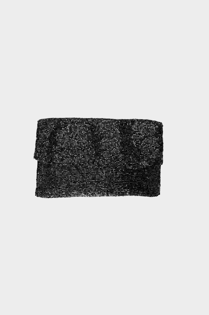 Crossbody Soft Beaded Bag | Black