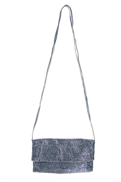 Crossbody Soft Beaded Bag | Bullet