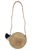 Small Crossbody Round Basket | Natural/Gold