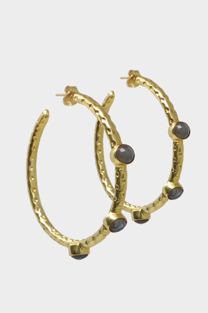 Cruise Gemstone Hoop Earrings | Labradorite