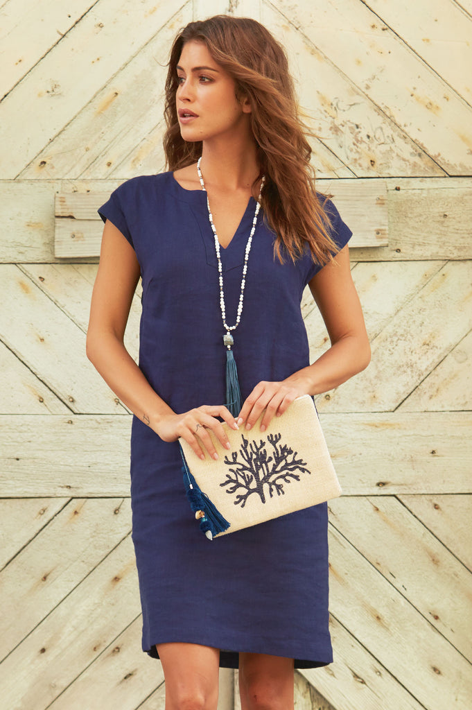 Dori Linen Dress | Navy