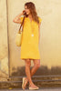 Dori Linen Dress | Yellow
