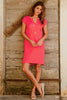 Dori Linen Dress | Bright Coral