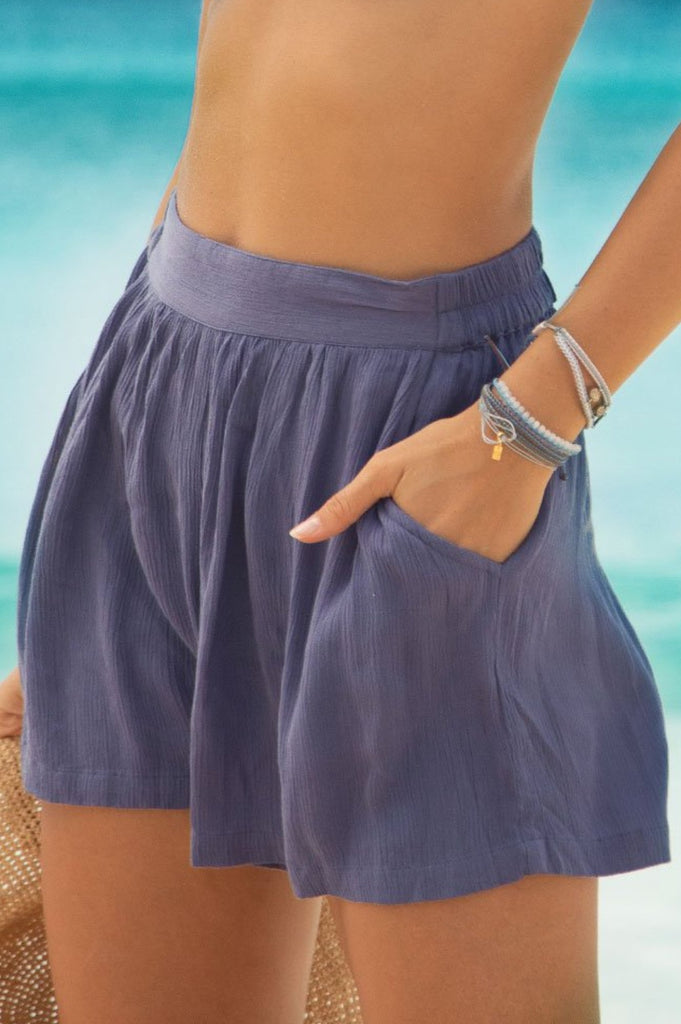 Cora Shorts | Dusty Blue