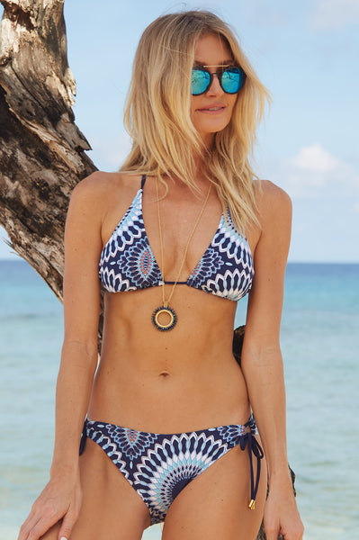 Laguna String Bikini by Helen Jon | Navy/White