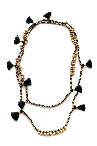 Farah Necklace | Black