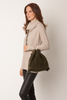 Faux Shearling Crossbody Bag | Khaki