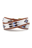 Feather Belt | White/Purple