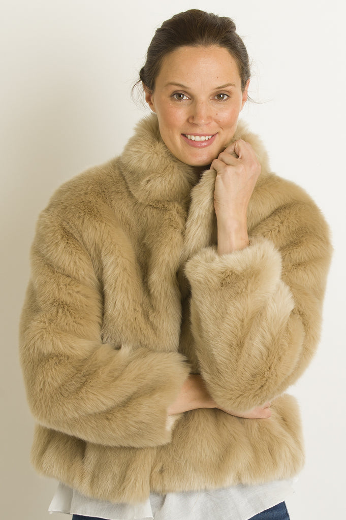 Faux Fur Jacket by Ruby & Ed | Fawn