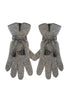 Leather Tassel Gloves by Santacana | Grey