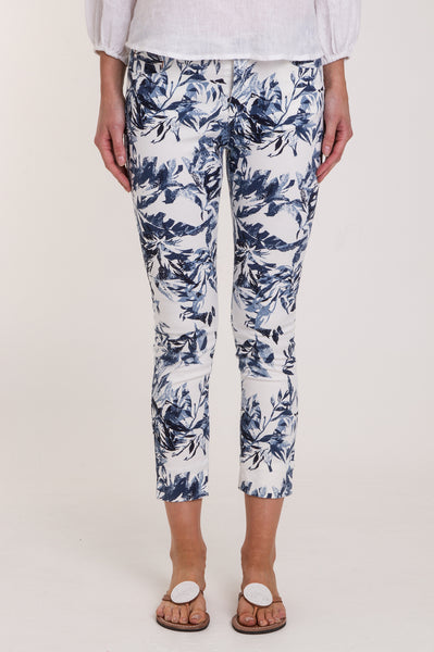 Pattern Jeans by Mayjune | Blue/White