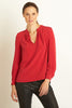 Scarlet Silk Blouse | Red