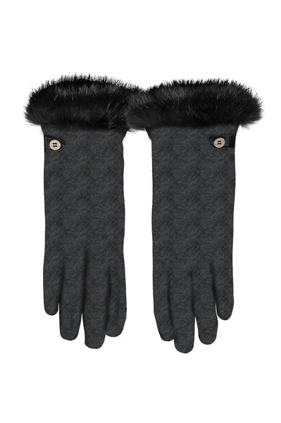 Jersey Fur Gloves by Santacana | Grey