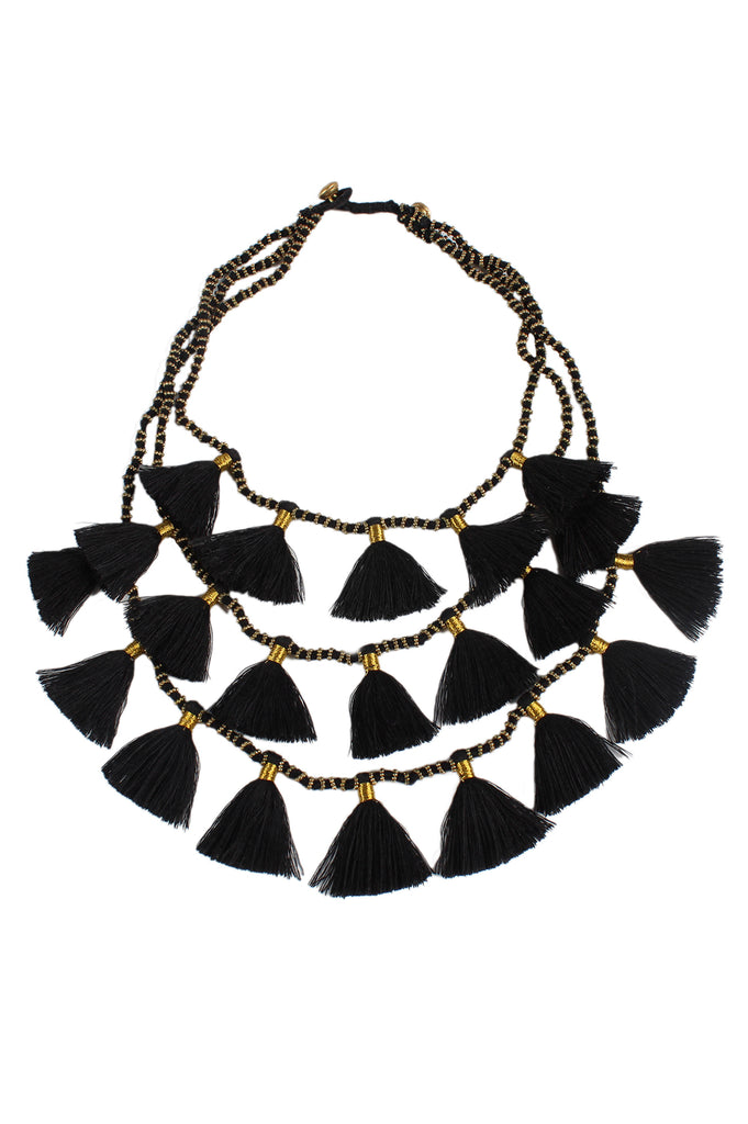 Gia Necklace | Black - Aspiga