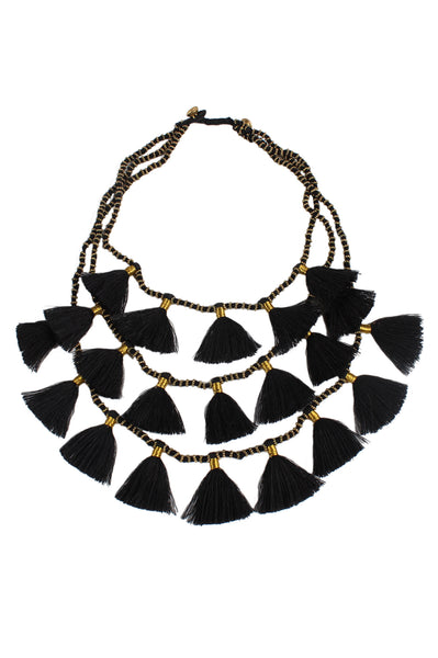 Gia Necklace | Black