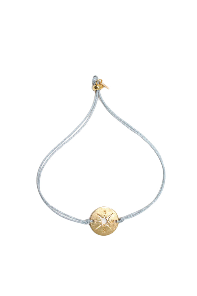 Gold Compass Thread Bracelet by Pink Powder | Silver