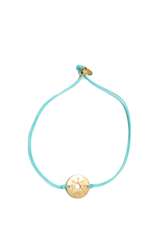 Gold Compass Thread Bracelet by Pink Powder | Turquoise