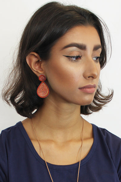 Guadalupe Earrings | Coral