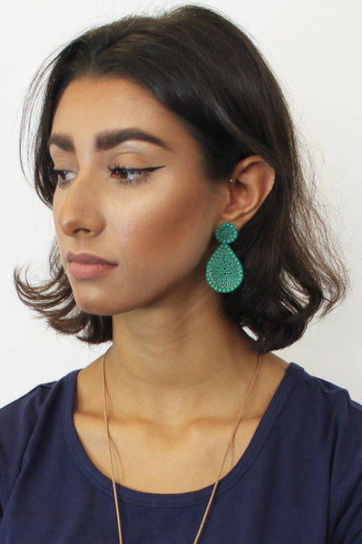 Guadalupe Earrings | Sea Green