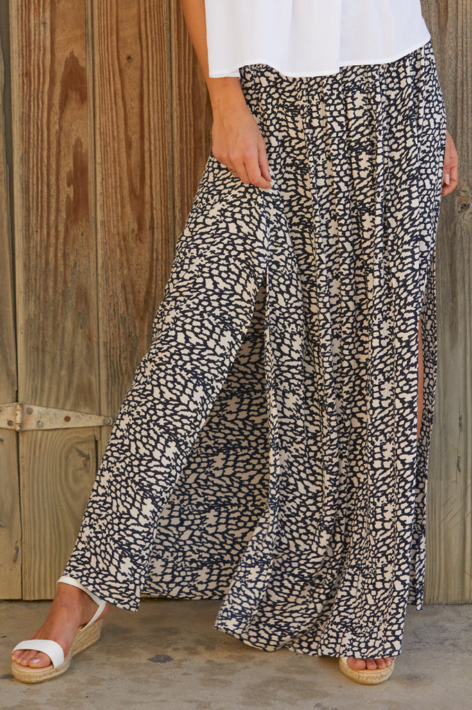 Ella Maxi Skirt | Maceio Midnight Blue - Aspiga