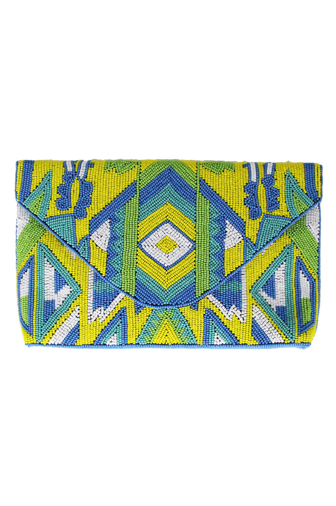 Linda Clutch | Yellow/Lime/Blue