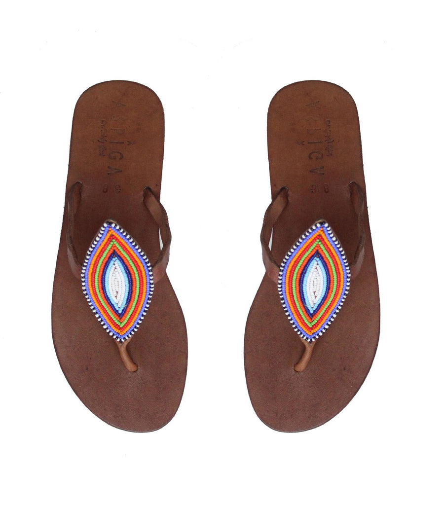 Leaf Thong Sandals | Multi