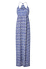 Lenu Maxi Dress | Leopard Blue