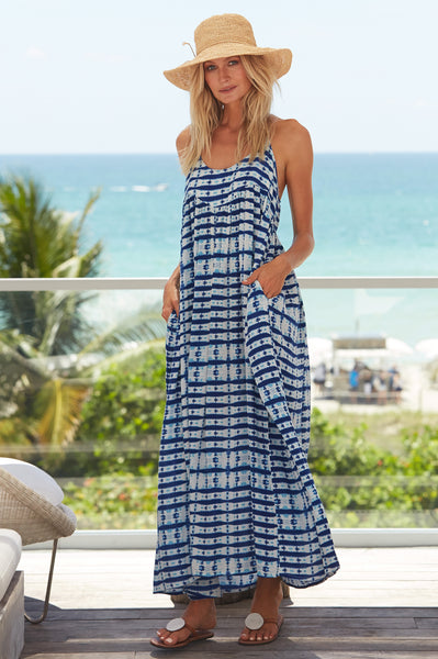 Lenu Maxi Dress | Mustique Blue