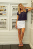 Sol Cotton Mini Skirt | White