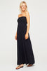 Lilia Bandeau Maxi Dress | Black