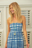 Lilia Bandeau Dress | Mustique Blue Print