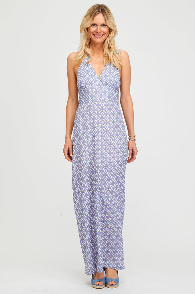 Lima Halter Maxi Dress | Goa Lilac