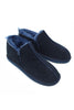 Lola Sheepskin Slipper Boots with Ribbon | Navy