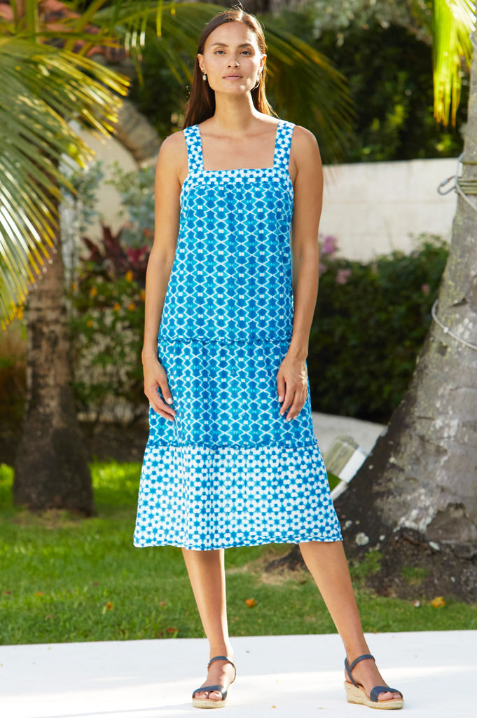 Louise Organic Cotton Midi Dress | Maui Emerald - Aspiga