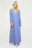 Lucy Maxi Wrap Dress | Leopard Blue