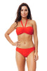 Ruched Bandeau Bikini by Moontide | Orange