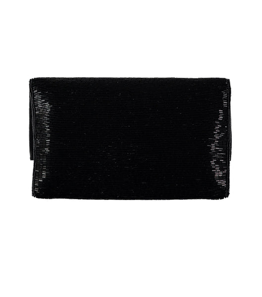 Maria Beaded Clutch | Black/Gold