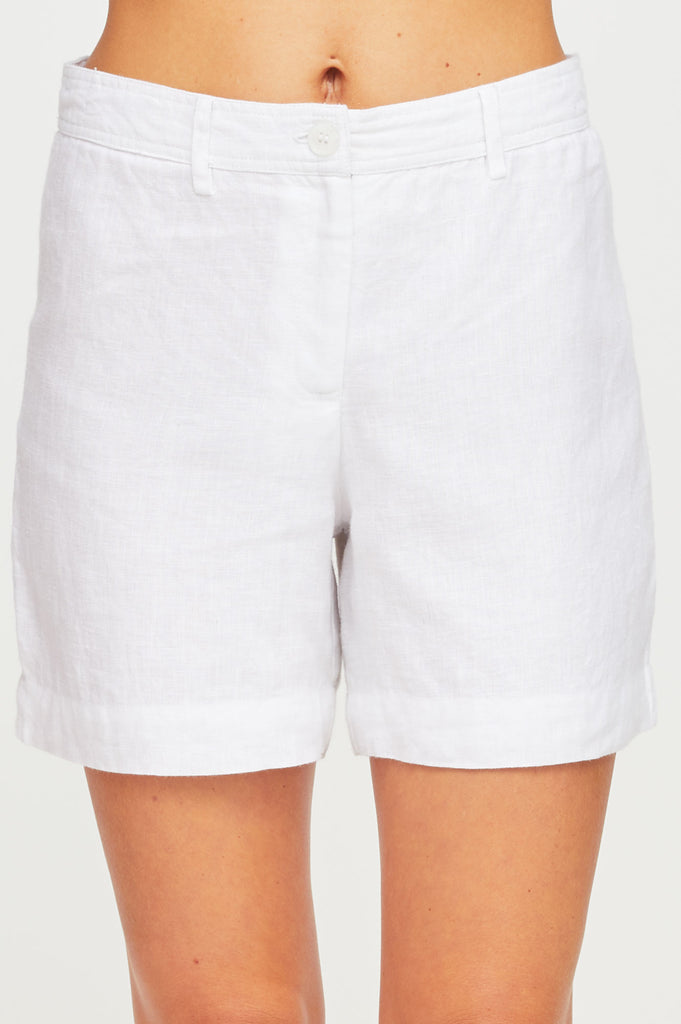 Marisa Linen Shorts | White
