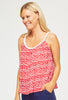Miranda Plait Sun Top | Leopard Red