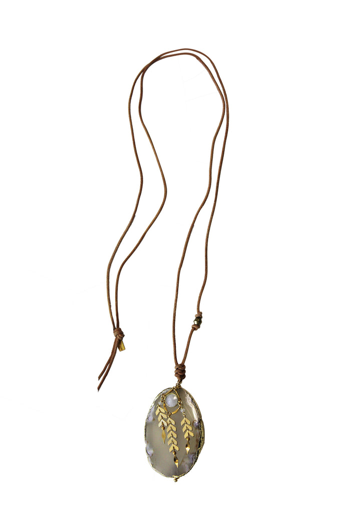 Mix Stone Necklace by Chan Luu | Moonstone