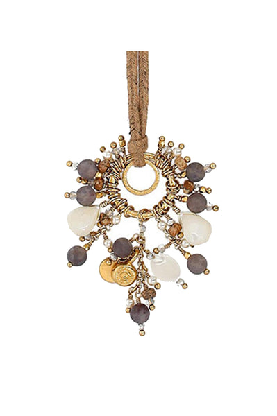 Lolite Mix Stone Necklace by Chan Luu | Cream /Beige